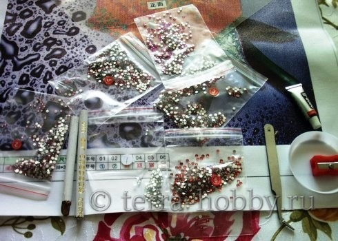 алмазная вышивка инструменты