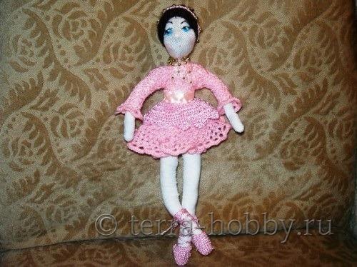 кукла балерина из ткани