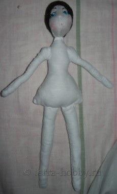 пришить волосы к голове куклы