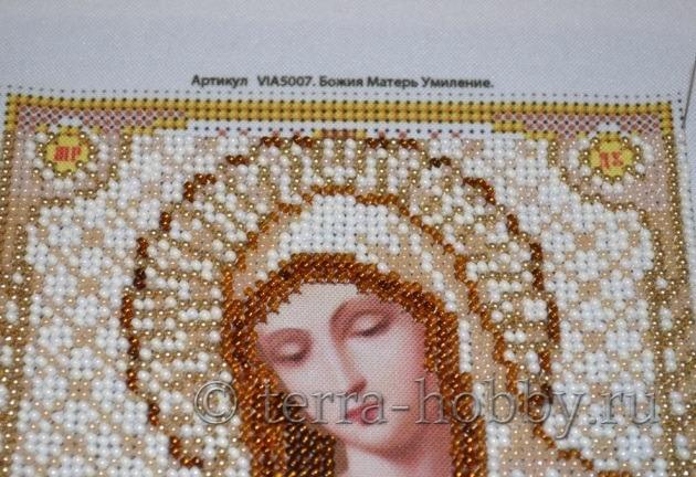 Вышивка икон бисером полукрест