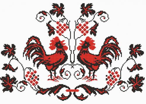 орнамент петух