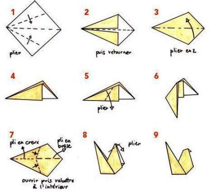 Схема петуха оригами