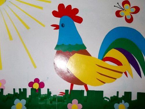 петух открытка