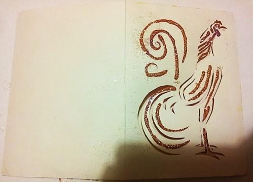 открытка вытынанка петух своими руками