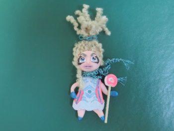 Миниатюра к статье Кукла-магнит из полимерной глины своими руками