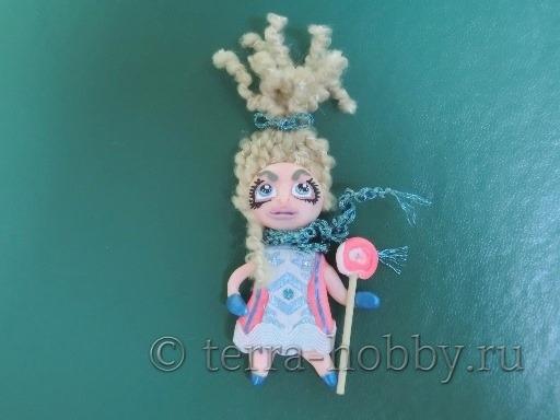 кукла магнит из полимерной глины