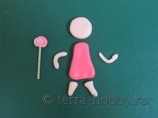 детали куклы из полимерной глины