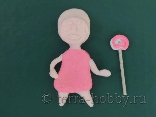 делаем куклу магнит из полимерной глины