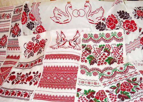 правила вышивки свадебных рушников
