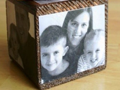 кубик с фотографиями
