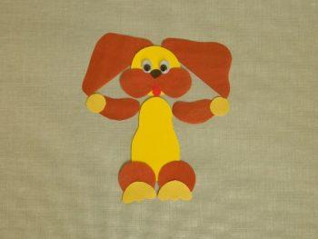 Миниатюра к статье Аппликация собака из цветной бумаги