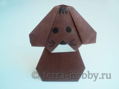 собакак оригами из бумаги для начинающих