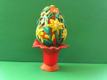 Миниатюра к статье Пасхальное яйцо из пластилина