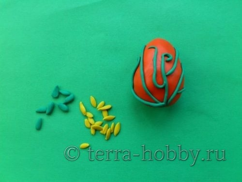 растительный орнамент на яйце
