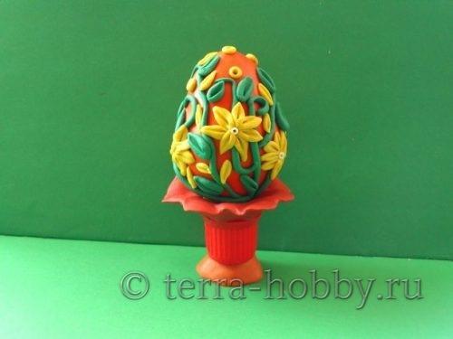 пасхальное яйцо из пластилина