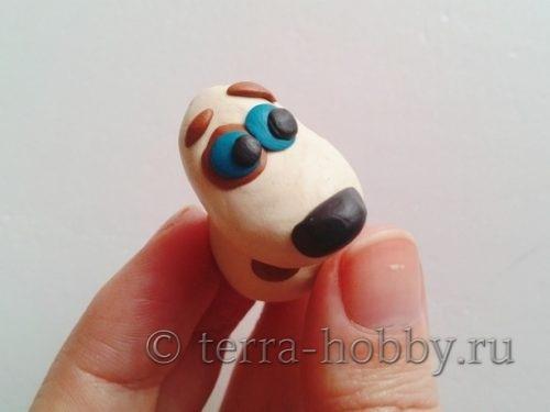 глазки из пластилина для собачки