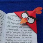 Миниатюра к статье Закладка оригами Энгри Бердз Ред