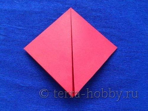 сделать квадрат из бумаги