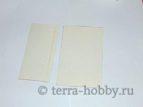 вырезать из картона 2 детали фоторамки