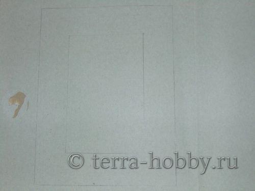 перенести контуры фоторамки на бумагу
