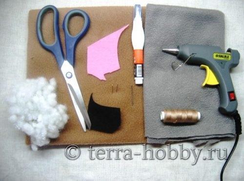 материалы для шитья щенка