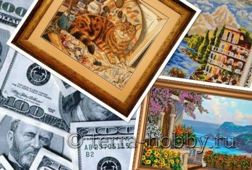 продавать вышитые картины крестиком