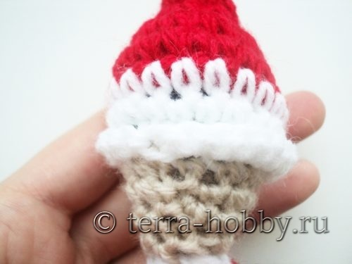 вязание отворота на шапочке