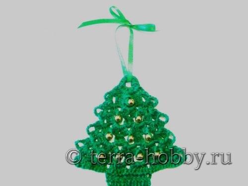 вязанная елка крючком