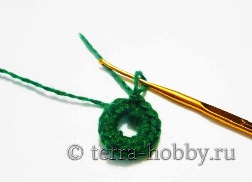 Вязаная елочка крючком: схема и описание
