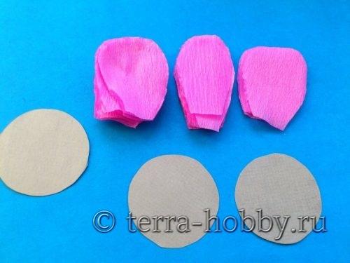 лепестки и сердцевины из бумаги