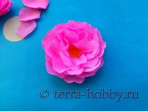 красивая роза из бумаги своими руками