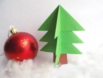 Миниатюра к статье Делаем елочку из бумаги в технике оригами за 15 минут!