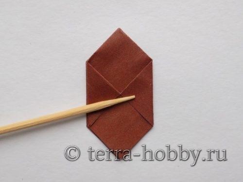 сделать уголки с другой стороны квадрата