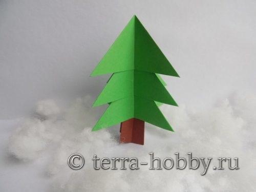 елочка оригами