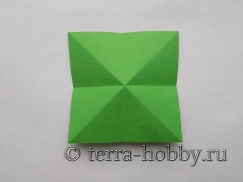 заготовка елочки из бумаги
