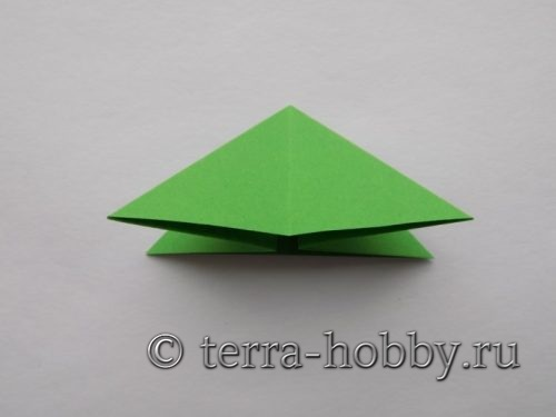 сложить квадрат в виде двойного треугольника