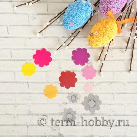 вырезанные цветочки