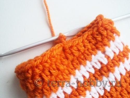 вязание лапок крючком