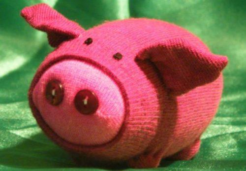 вязаная свинья