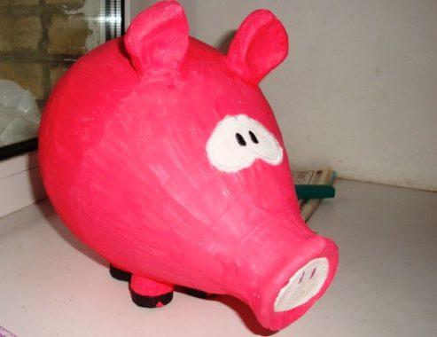 свинка из папье маше