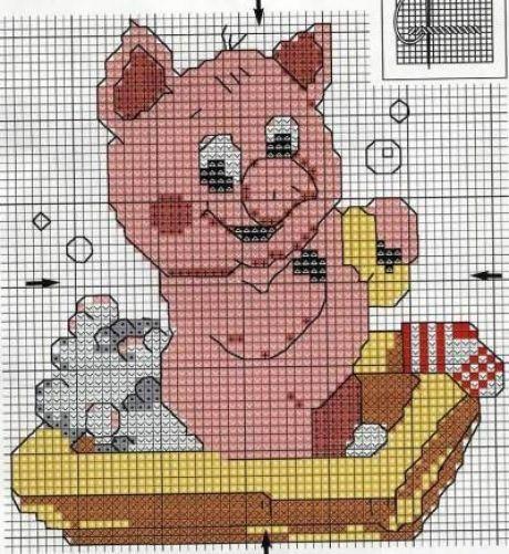 свинка крестиком схема