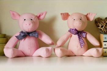 Миниатюра к статье Выкройки свинок, поросят, хрюшек