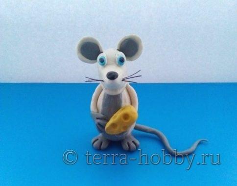 крыса из пластилина