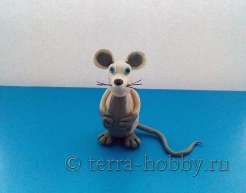 крыса из пластилина своими руками