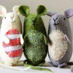 Выкройки мыши и крысы для шитья из ткани, фетра, меха