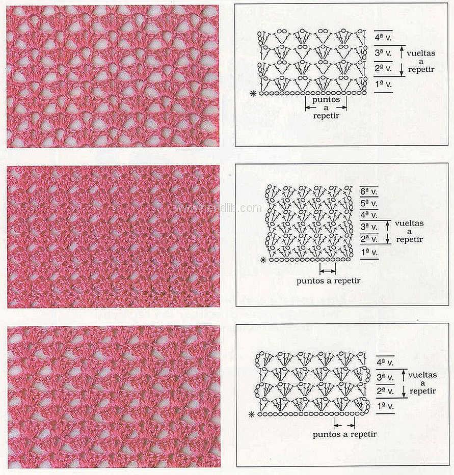 рисунок вязания крючком схемы для начинающих черной коже много