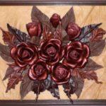 Делаем картину из кожаных цветов