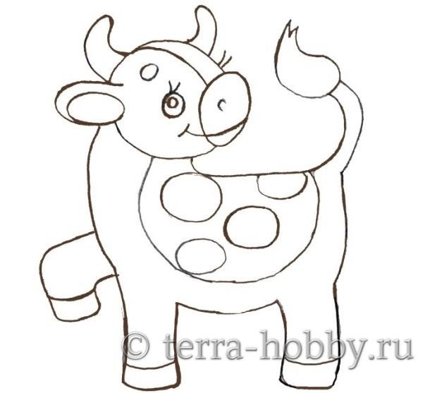 нарисовать бычка