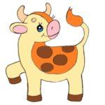нарисовать теленка