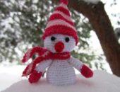 Миниатюра к статье Снеговик своими руками - вяжем крючком